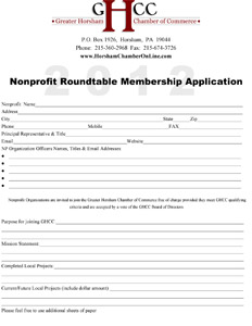 NonProfit Application 2012