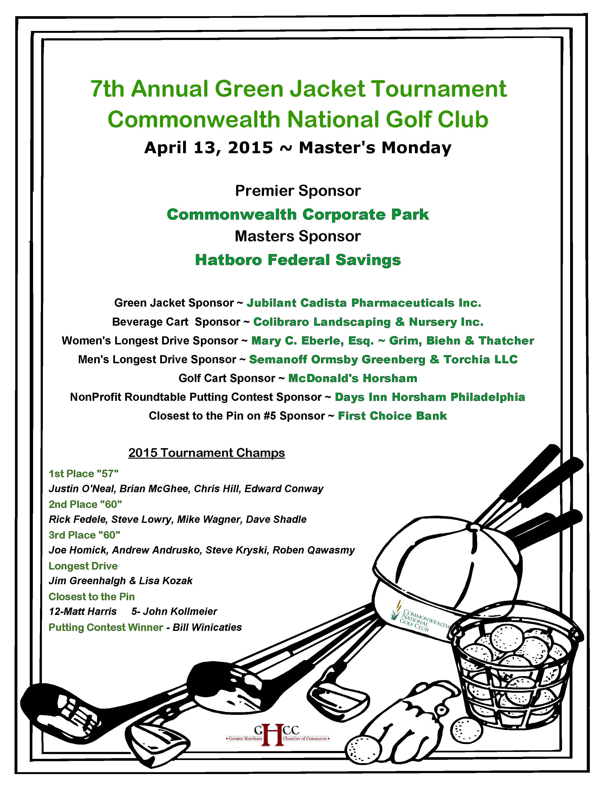 Golf Website Sponsors and Champs 2015